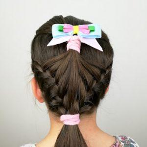 peinado en forma de concha