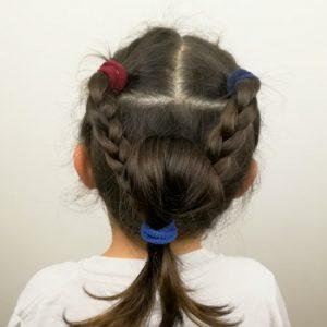 peinado sencillo con trenzas de 3 cabos