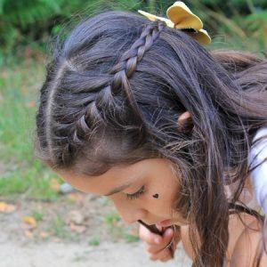 peinado de campesina para niñas
