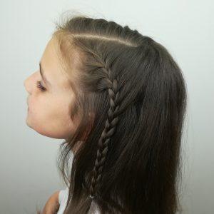 Lado izquierdo peinado Princesa Leonor