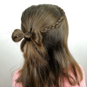 peinado lazo de cabello con trenzas laterales
