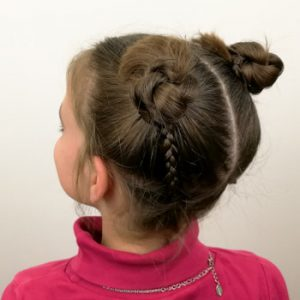 Peinado con doble moño