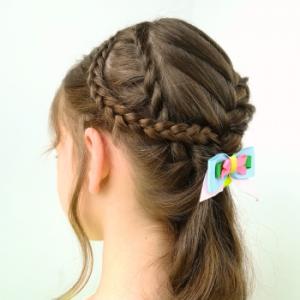 Peinado con varias trenzas diferentes