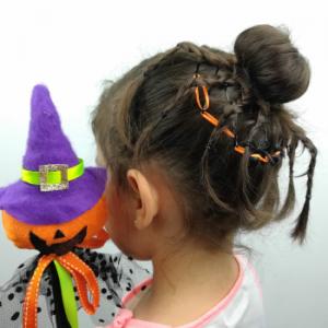 Peinado de Hallowen para niñas
