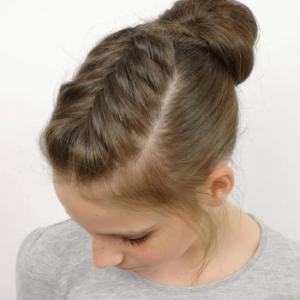 Peinado fácil con trenza espiga