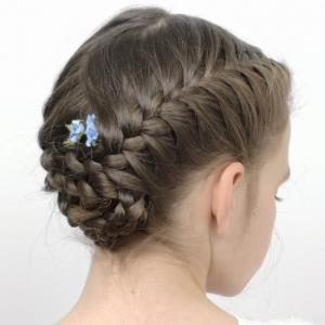 Peinados recogidos con pelo suelto