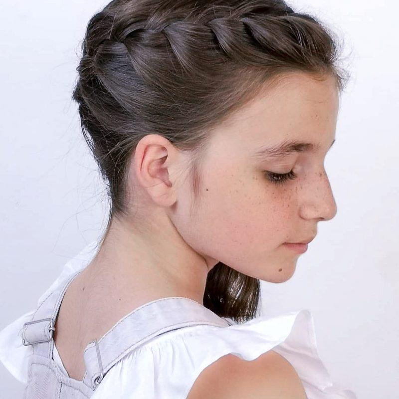 Peinados con trenzas en un solo lado