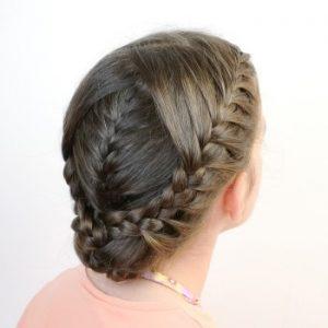 peinado sencillo y elegante para niñas