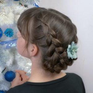 Peinado de fiesta para niñas