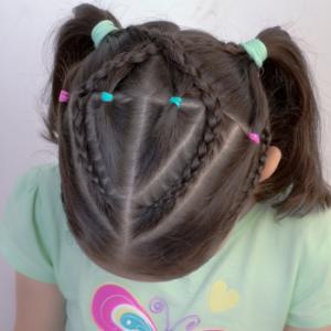 peinado con ligas de colores