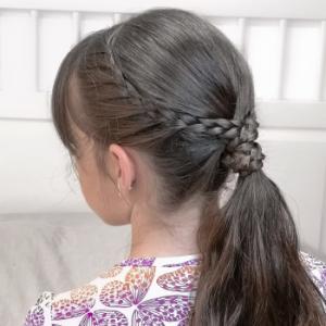 peinado sencillo con trenza francesa