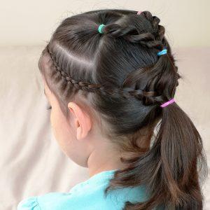 peinados escolares con una coleta