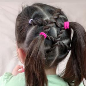 Peinado fácil y rápido para niñas