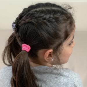 peinado sencillo con trenzas francesas