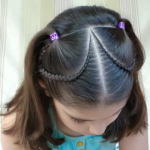 peinado para niñas pequeñas