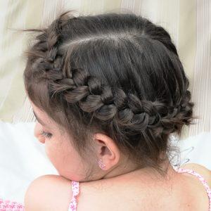 Trenza Griega con cabello corto