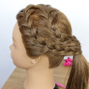 Doble Trenza Francesa Lateral