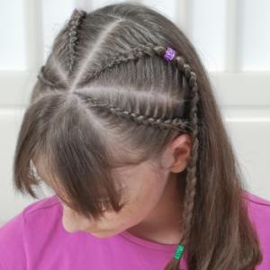 peinado con trenzas pegadas