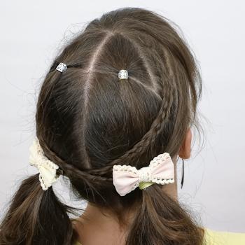 Peinado con ligas y trenzado