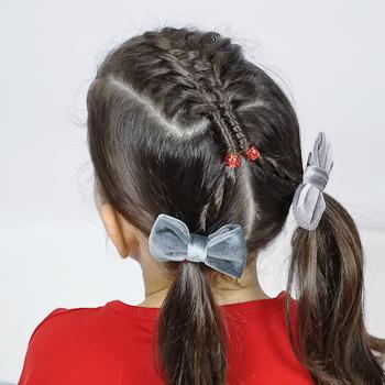 Peinado con Suspended Infinity Braid
