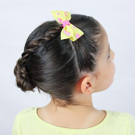 Peinado lindo con trenza de 2 cabos